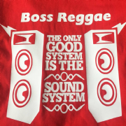BOSS REGGAE SOUND STSTEM T-SHIRT RED & WHITE